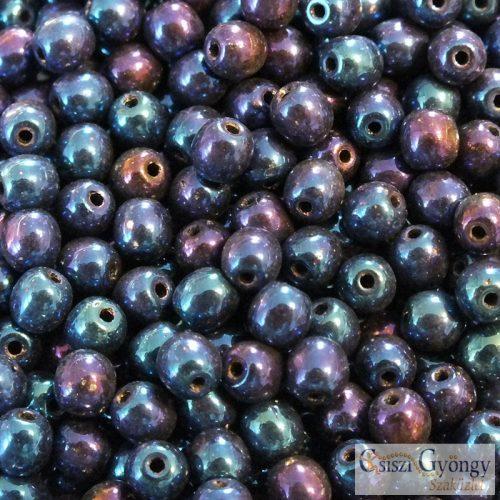 Iris Blue - 40 db - 4 mm golyó gyöngy