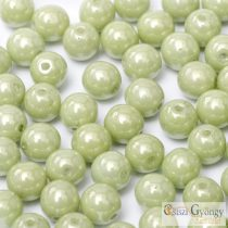 Luster Green Apple - 40 pcs. - 4 mm Round Beads (14457)