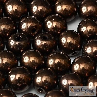 Bronze - 40 db - 4 mm golyó gyöngy (14415)