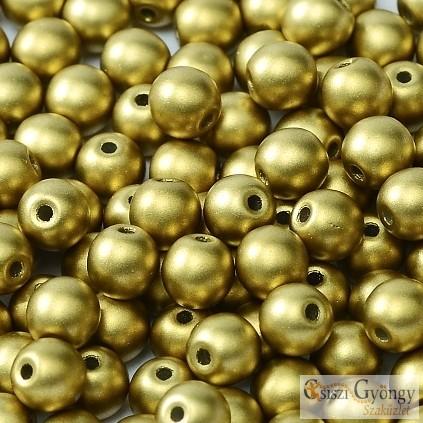 Matte Met. Olivine - 40 Stk. - 4 mm Runde Perlen (29418)