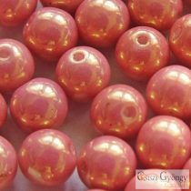 Luster Salmon - 20 pcs - 6 mm Round Beads (14495)
