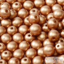 Matte Met. Copper - 20 db - 6 mm golyó gyöngy (29412)