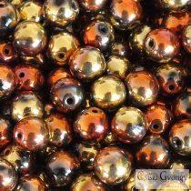 Gold Rush - 20 db - 6 mm golyó gyöngy