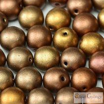 Matte Metallic Mix - 20 Stück - Runde Perlen, 6 mm