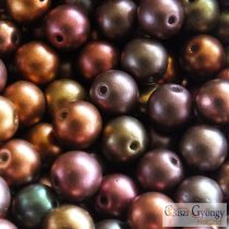 Matte Met. Purple Iris - 20 db - 6 mm golyó gyöngy (01640)