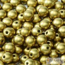 Matte Metallic Olive - 20 db - golyó gyöngy 6 mm (29418)
