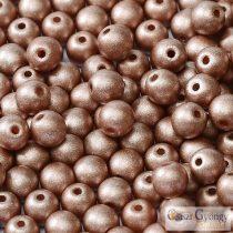 Matte Met. Cappuccino - 20Stk. - runde perlen 6 mm (29487)