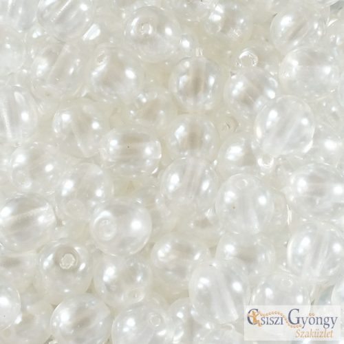 Transparent Pearl Brilliant Crystal - 20 db - 6 mm golyó gyöngy (63024CR)