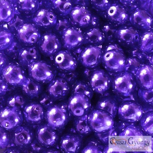 Transparent Pearl Violet - 20 db - 6 mm golyó gyöngy (63294CR)