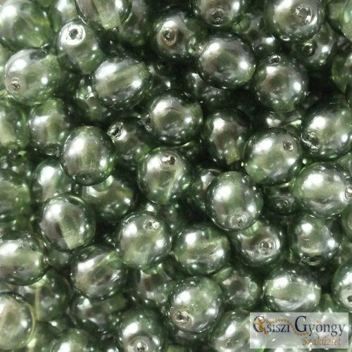 Transparent Pearl Mint Leaf - 20 db - 6 mm golyó gyöngy (63583CR)