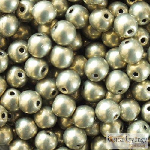 C.T.Sat. Metallic Lime Light - 20 db - 6 mm golyó gyöngy (06B09)