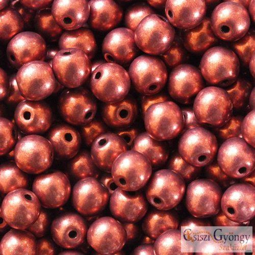C.T.Sat. Metallic Vallant Poppy - 20 db - 6 mm golyó gyöngy (06B02)