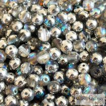 Crystal Silver Rainbow - 20 db - 6 mm golyó gyöngy