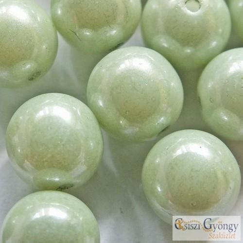 Lüszet almazöld - 10 db - golyó üveggyöngy 8 mm