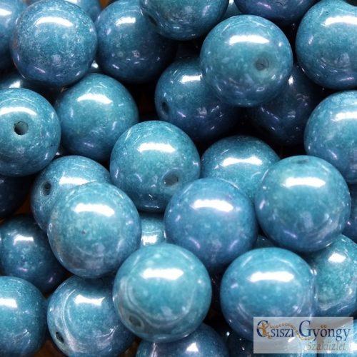 Luster Baby Blue - 10 db - 8 mm üveggyöngy (14464)