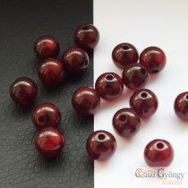 Burgundy - 1 pcs. - 8 mm Polaris Round Bead (40622)