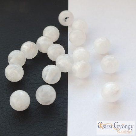 Gyöngyház fehér - 1 db - 8 mm Polaris gyöngy (63662)