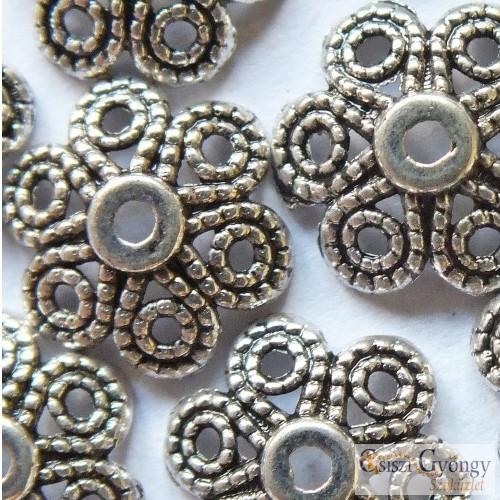 Inda Bead Cup - 1 Stk. - antique silver color, Grösse: 12mm, (Nickel, Cadmium and Lead Free)