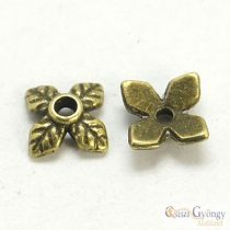 Leaf Bead Cup - 20 pc. - color: brass, size: 6 mm, (Lead, Nickel and Cadmium Free)