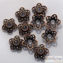 Koszorú Gyöngykupak - 10 db - bronz színű, mérete: 12mm