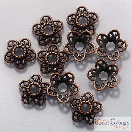 Koszorú Gyöngykupak - 1 db - bronz színű, mérete: 12mm