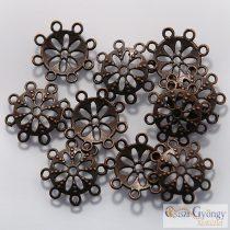 Margaréta Gyöngykupak - 10 db - bronz színű, mérete 14x2 mm