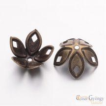 Gyöngykupak - 1 db - bronze színű, 18x8 mm