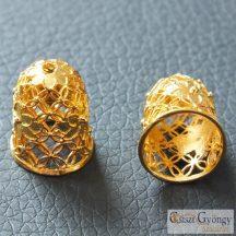 Gyöngykupak - 1 db - arany színű, mérete: 15x12 mm