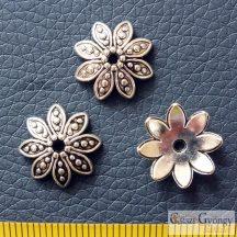 Gyöngykupak - 1 db - antik ezüst színű, mérete: 9mm