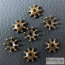Csillag alakú gyöngykupak, réz szín - 1 db - méret: 8 mm