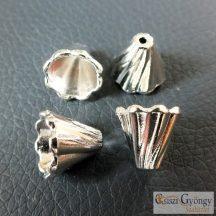 Gyöngykupak - 1 db - ezüst színű, méret: 12 mm