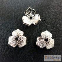 Gyöngykupak - 1 db - ezüst színű, méret: 10mm