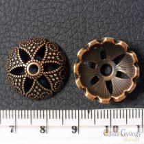 Tibetan Style Bead Caps - 1 pcs. - red copper color, size: 20x7mm, Hole: 2 mm