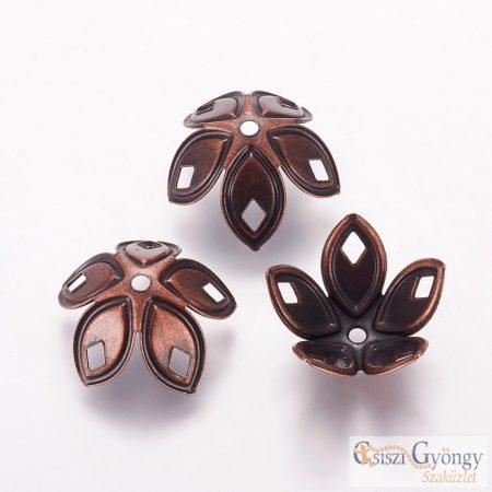 Gyöngykupak - 1 db - bronz színű, hajlítható, mérete: 18x8mm