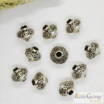 Tibetan Style Spacer Beads - 1 pcs. - antiq. silver color, size: 6 mm
