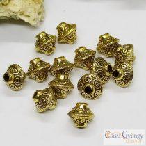 UFO köztes gyöngy - 1 db - antik arany színű, 6 mm