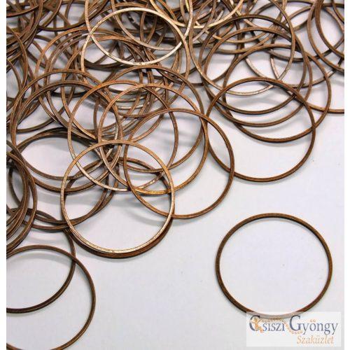Oroszlán fej köztes gyöngy - 1 db - rose gold színű, 304 rozsdamentes acél, méret: 13x11 mm