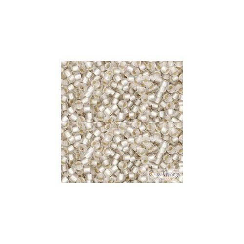 Silver Lined Frosted Crystal - 10 g - 11/0 Toho japán kásagyöngy (21F)