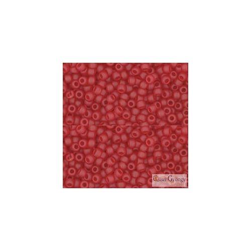 Transp. Frosted Ruby - 10 g - 11/0 Toho japán kásagyöngy (5CF)
