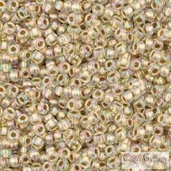 Gold Lined Rainbow Crystal - 10 g - 11/0 Toho japán kásagyöngy (994)