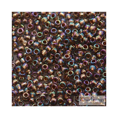 Gold Lined Rainbow Black Diamond - 10 g - 11/0 Toho japán kásagyöngy (999)