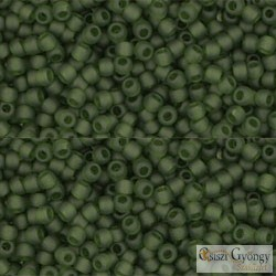 Transparent Frosted Olivine - 10 g - 11/0 Toho Rocailles (940F)