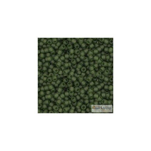 Transparent Frosted Olivine - 10 g - 11/0 Toho japán kásagyöngy (940F)