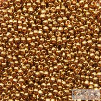 Gold Luster Transparent Pink - 10 g - 11/0 Toho japán kásagyöngy (421)