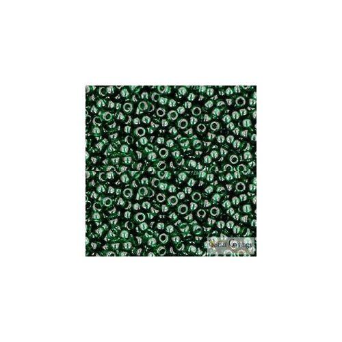 Transparent Green Emerald - 10 g - 11/0 Toho japán kásagyöngy (939)
