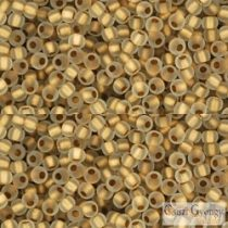 Frosted Gold Lined Crystal - 10 g - Toho Rocailles 11/0 (989F)