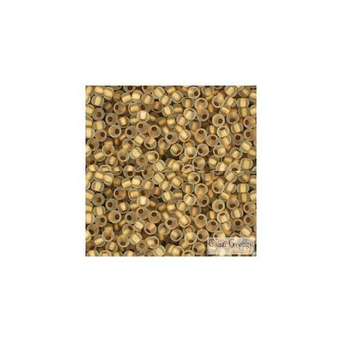 Frosted Gold Lined Crystal - 10 g - Toho japán kásagyöngy 11/0 (989F)