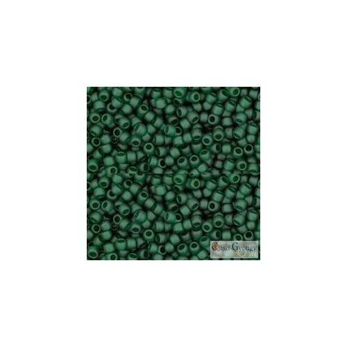 Transparent Frosted Green Emerald - 10g - 11/0 Toho japán kásagyöngy (939F)