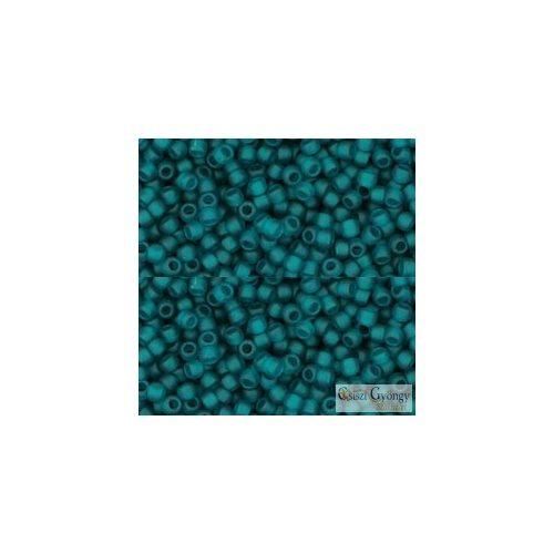 Transparent Frosted Teal - 10 g - 11/0 Toho japán kásagyöngy (7BDF)
