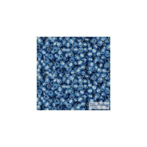 Silver Lined Milky Montana Blue - 10 g - 11/0 Toho kásagyöngy (2102)